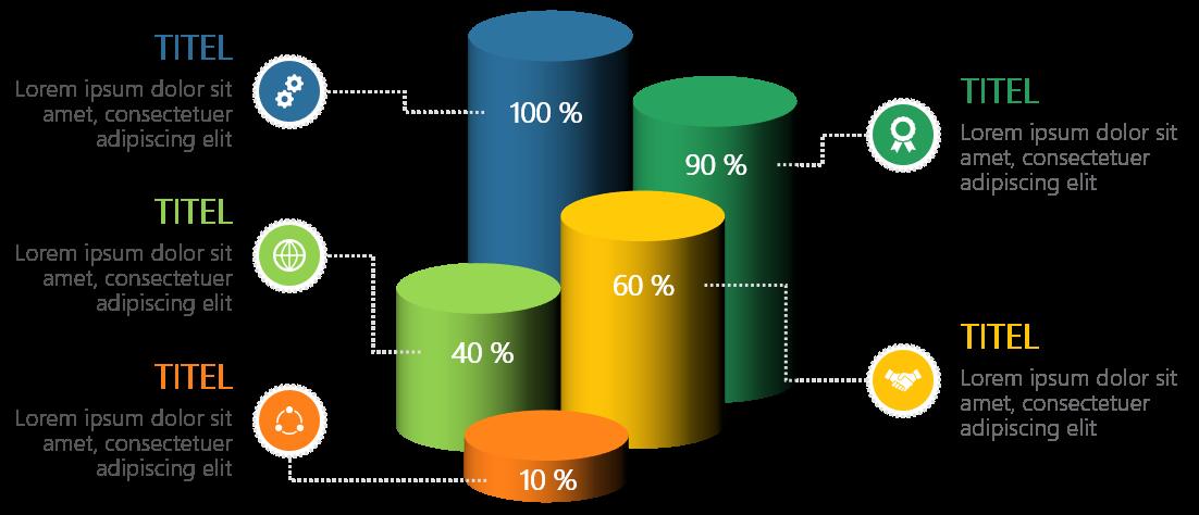 PowerPoint Vorlage: 3D-Säulen