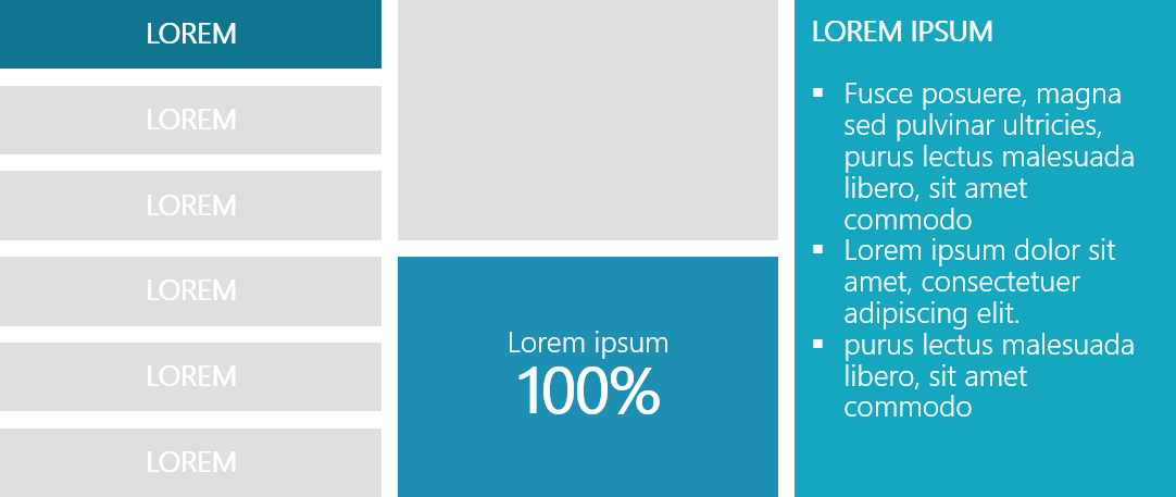 PowerPoint Vorlage: 3-spaltiges Kachellayout