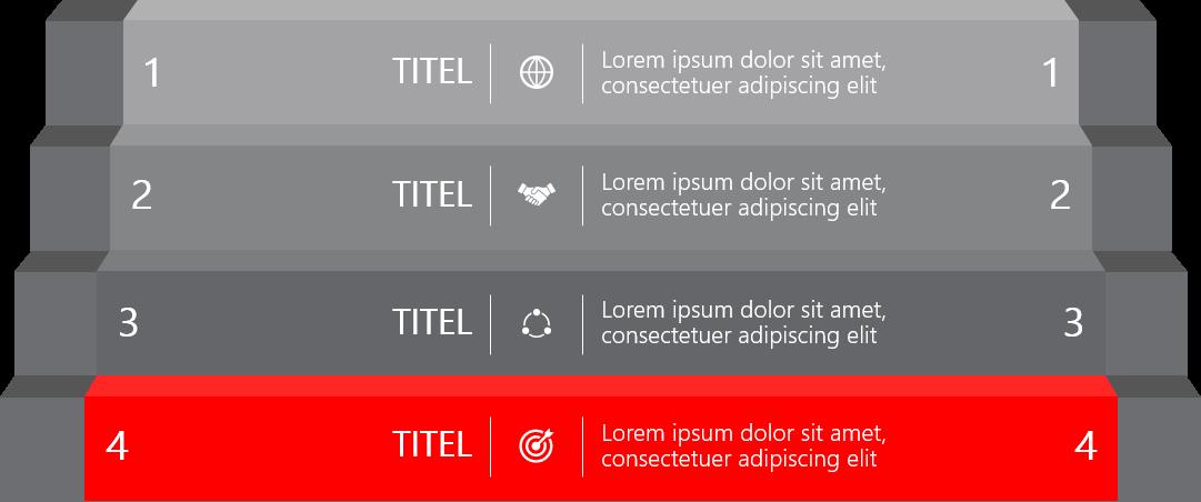 PowerPoint Vorlage: Ranking-Vergleich mit 3D-Treppe