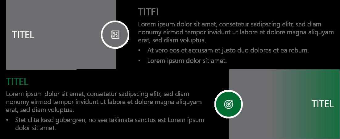 PowerPoint Vorlage: Text und Aufzählungen mit Bildern und Piktogrammen