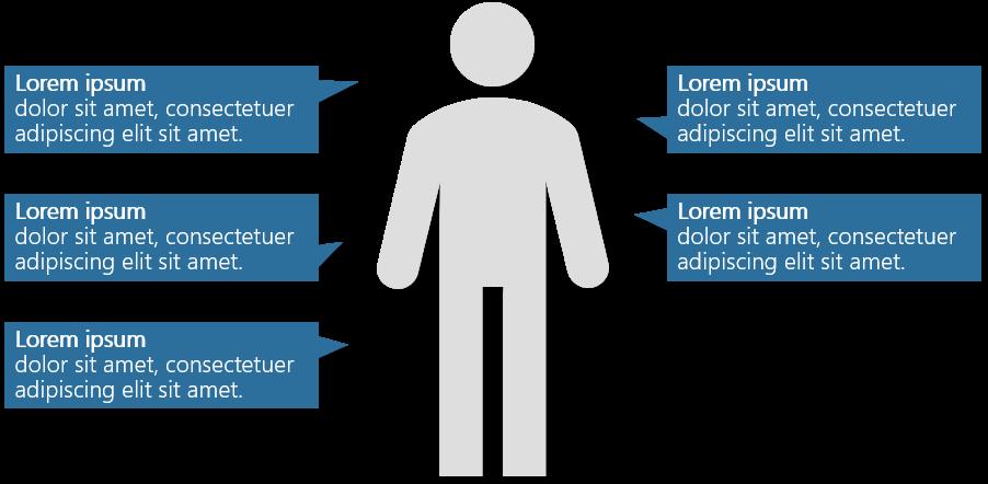 PowerPoint Vorlage: Zielgruppe mit Männchen und Sprechblasen