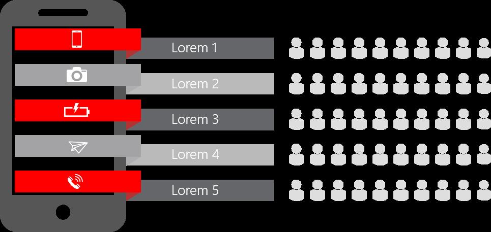 PowerPoint Vorlage: Kundenbewertung mit Männchen-Skala