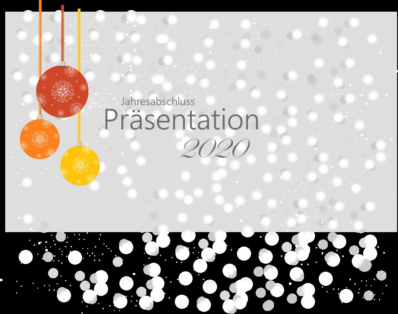 PowerPoint Vorlage: Jahresabschluss Präsentation