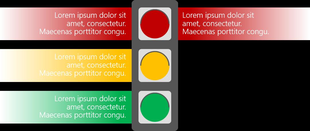 PowerPoint Vorlage: Projektphasen mit Ampel