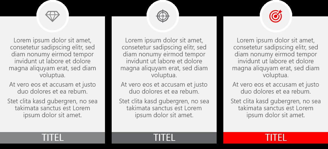 PowerPoint Vorlage: Text und Aufzählungen mit farbigen Piktogrammen