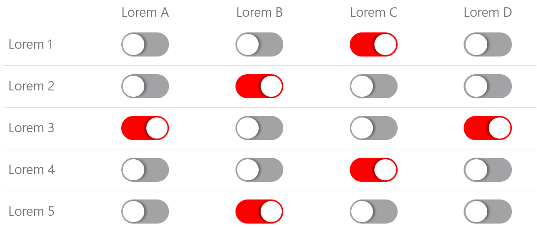 PowerPoint Vorlage: Statusanzeige mit Schaltern