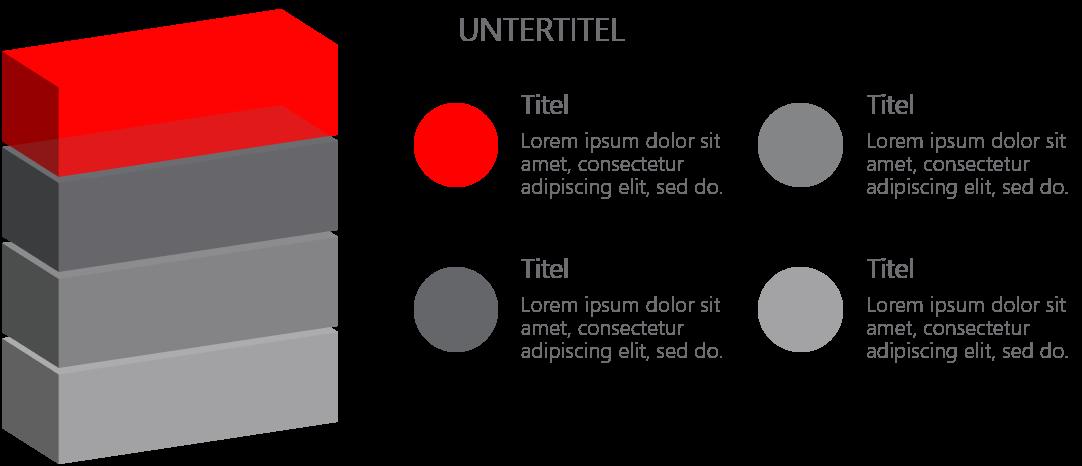 PowerPoint Vorlage: 3D-Stapel für Auflistung