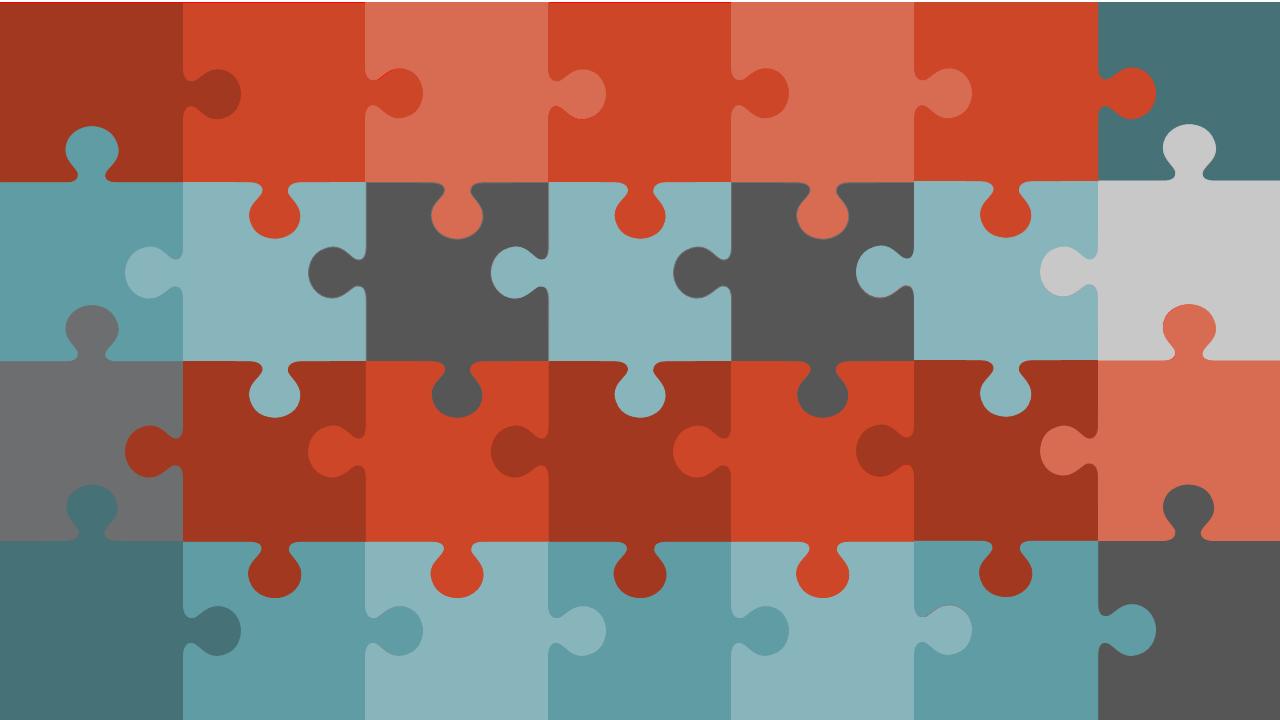 PowerPoint Vorlage: Puzzleteile zur Bildenthüllung