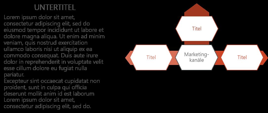 PowerPoint Vorlage: Marketing- und Vertiebstrategie mit Text