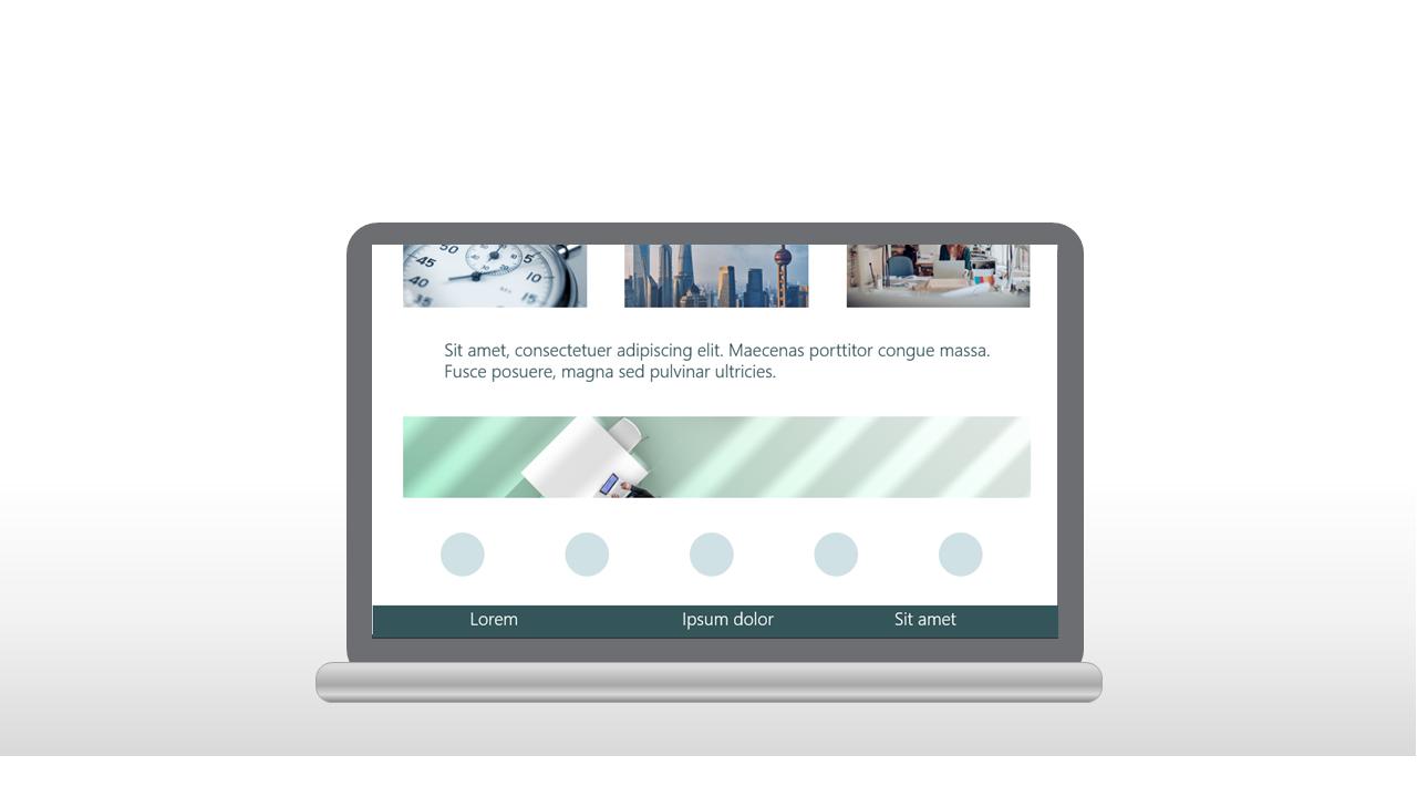 PowerPoint Vorlage: Webseite senkrecht Scrollen
