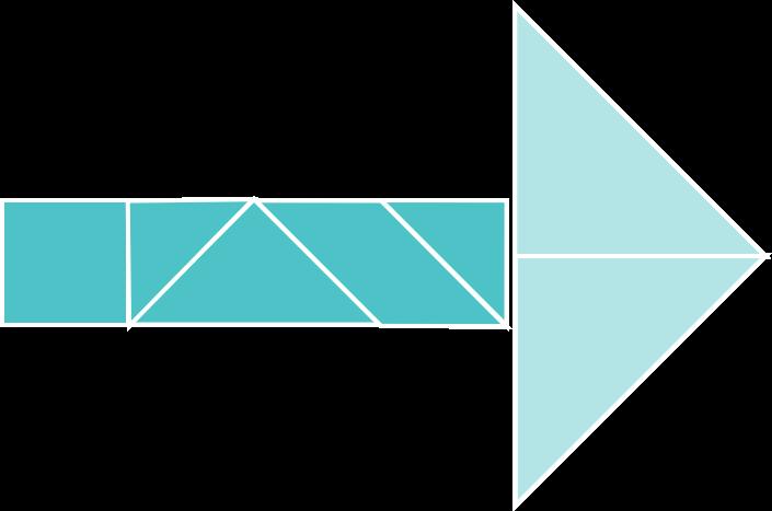 PowerPoint Vorlage: Tangram Legespiel-Grafik