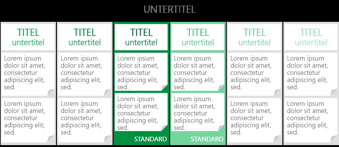 PowerPoint Vorlage: Geschäftsplan Ausbaustufen