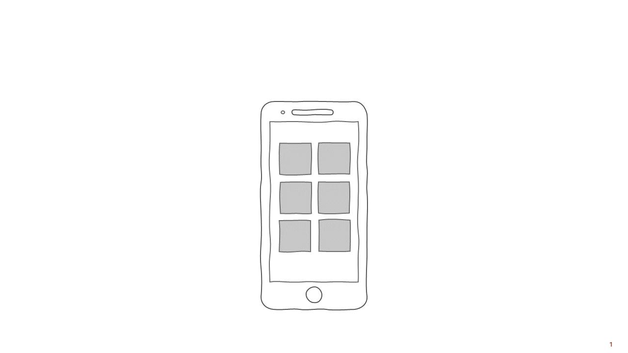 PowerPoint Vorlage: Smartphone im Skizzen-Look