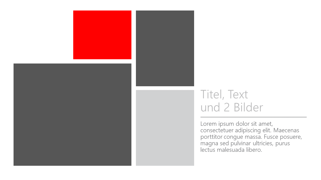 PowerPoint Vorlage: Collage mit Text und zwei Bildern
