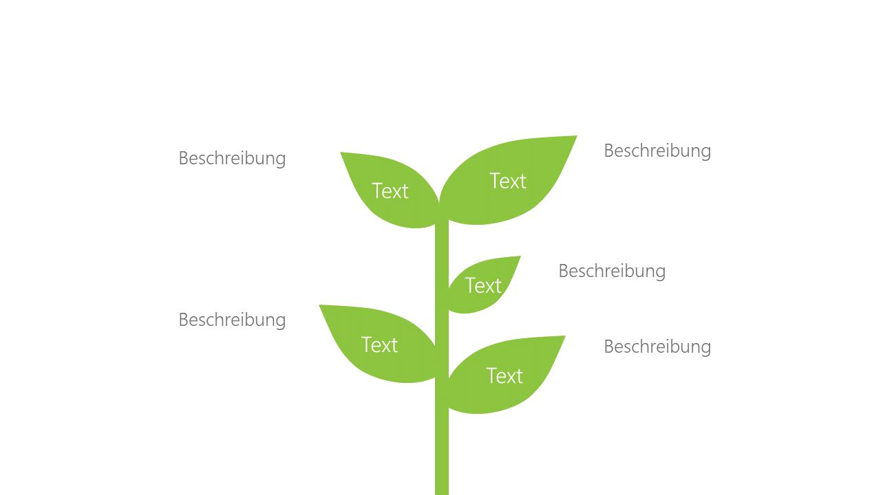 PowerPoint Vorlage: Aufzählung mit Pflanze