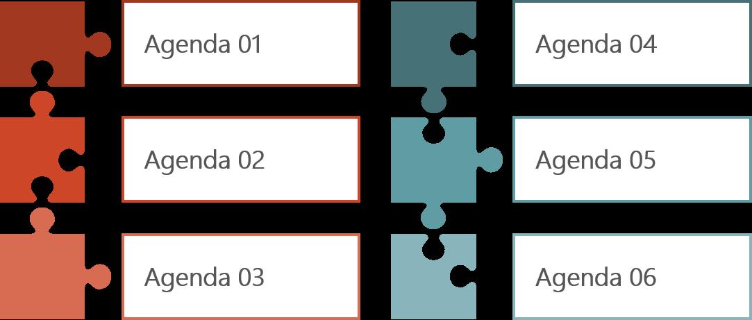 PowerPoint Vorlage: Agenda in Puzzleform